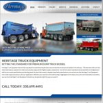 Responsive, Custom Web Design for Heritage Truck Equipment