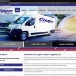 Modern Web Design for Clipper Courier of Dayton, Ohio